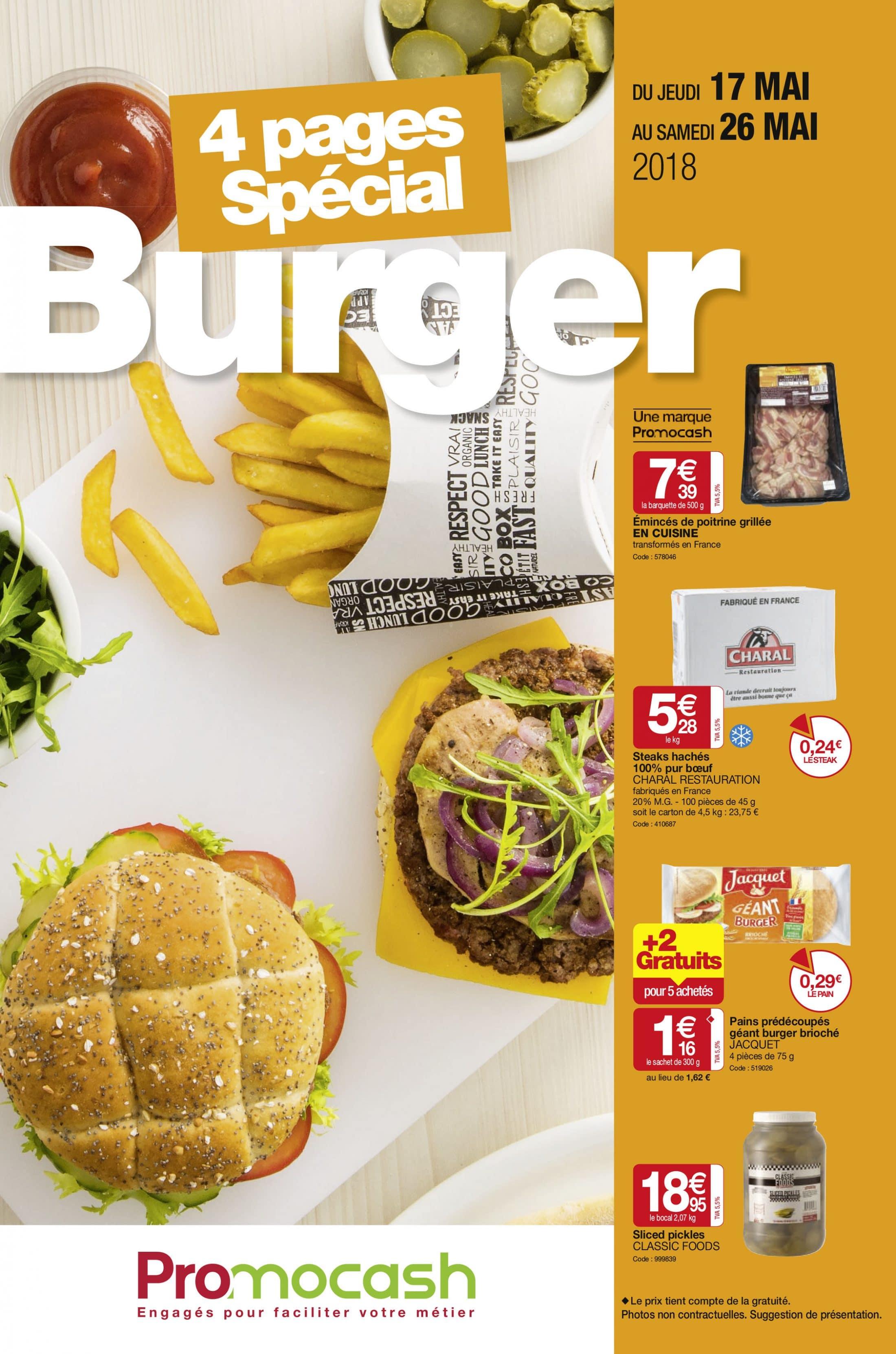Spécial burger du 17 au 26 mai 2018