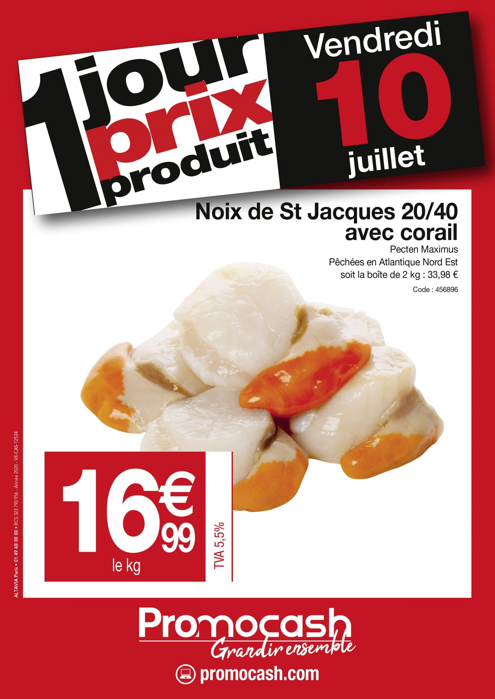 1jour 1prix 1produit Noix de St Jacques