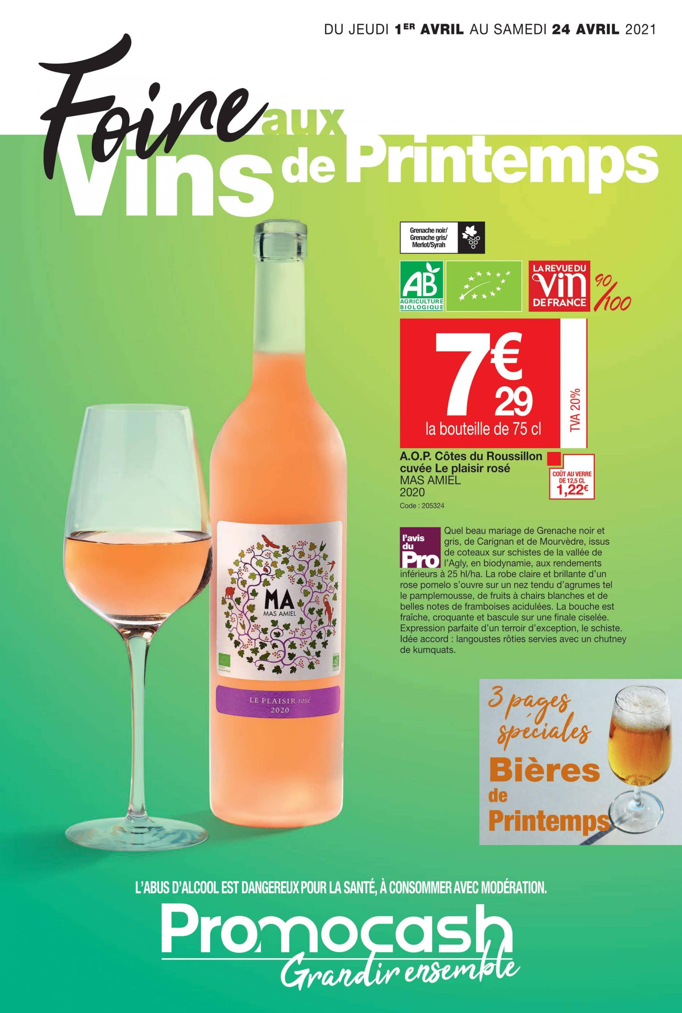 Foire aux vins de printemps du jeudi 1 au samedi 24 avril 2021