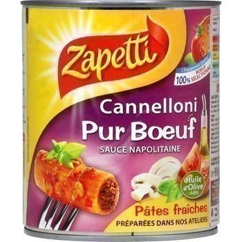 Cannelloni pur boeuf sauce napolitaine - Epicerie Salée - Promocash Avignon