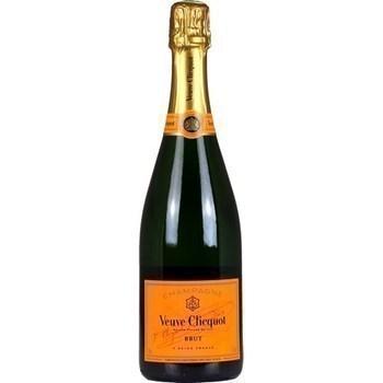 Champagne brut Veuve Clicquot 12° 75 cl - Vins - champagnes - Promocash Anglet