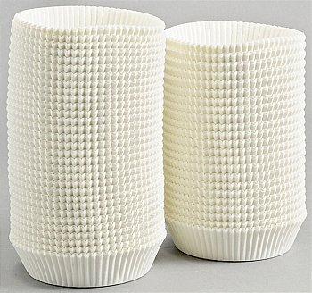 Caissettes blanches plissées rondes 1209TH - Bazar - Promocash Castres