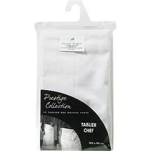 Tablier Chef Coton Blanc - la pièce - Textile - Promocash AVIGNON