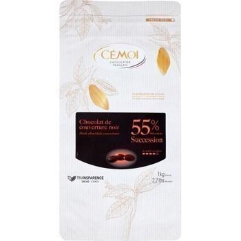 Chocolat de couverture noir 55% 1 kg - Epicerie Sucrée - Promocash Albi