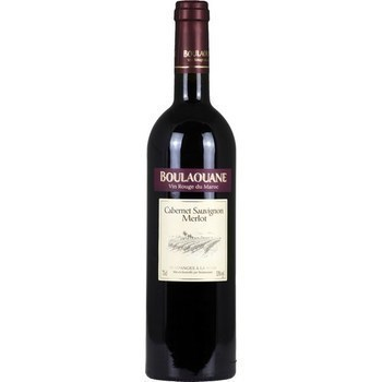 Vin du Maroc Cabernet Sauvignon Merlot Boulaouane 13° 75 cl - Vins - champagnes - Promocash Anglet