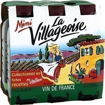 Vin de table français minivillageoise blanc 11° 6x25 cl - Vins - champagnes - Promocash Bourgoin