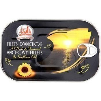 Filets d'anchois à l'huile de tournesol 250 g - Saurisserie - Promocash Nantes