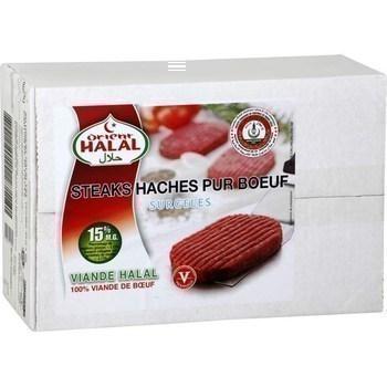 Steaks hachés pur boeuf halal 60x45 g - Surgelés - Promocash Brive