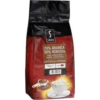 Café moulu Expresso 70% arabica 30% robusta 1 kg - Epicerie Sucrée - Promocash Millau