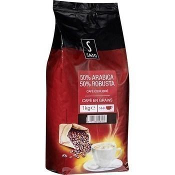 Café en grains 50% arabica 50% robusta 1 kg - Epicerie Sucrée - Promocash Millau