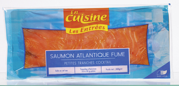 Saumon Atlantique fumé, petites tranches - Les Entrées - Saurisserie - Promocash Amiens