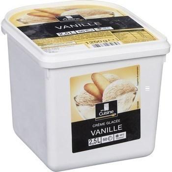 Crème glacée vanille 1250 g - Surgelés - Promocash Castres