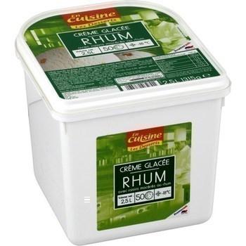 Crème glacée rhum raisins 1315 g - Surgelés - Promocash Bourgoin