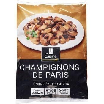 Champignons de Paris émincés 1er choix 2,5 kg - Surgelés - Promocash Antony
