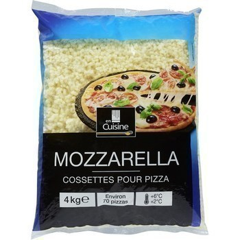 Mozzarella en cossettes pour pizza 4 kg - Crèmerie - Promocash Brive