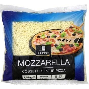 Mozzarella en cossettes pour pizza 2,5 kg - Crèmerie - Promocash Avignon
