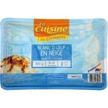 Blanc d'oeuf en neige avec caramel 300 g - Crèmerie - Promocash Saint Malo