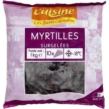 Myrtilles 1 kg - Surgelés - Promocash Chambéry