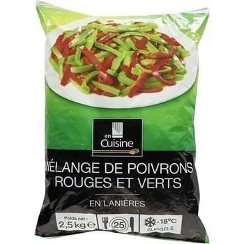 Mélange de poivrons rouges et verts 2,5 kg - Surgelés - Promocash Brive