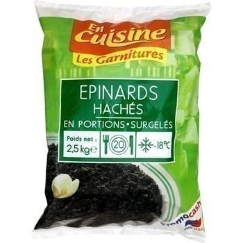 Epinards hachés en portions 2,5 kg - Surgelés - Promocash Amiens