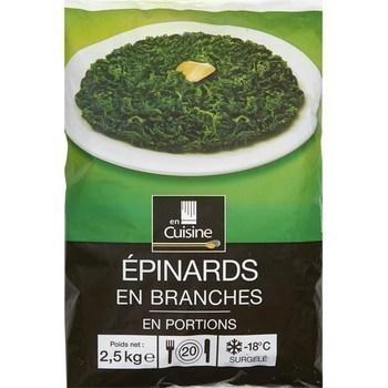 Epinards en branches en portions 2,5 kg - Surgelés - Promocash Brive