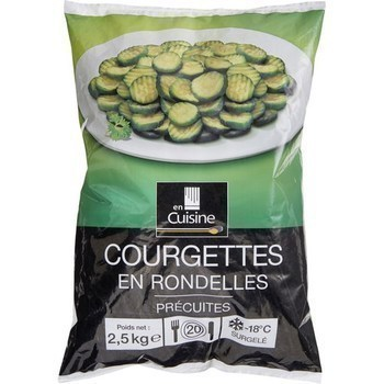 Courgettes en rondelles 2,5 kg - Surgelés - Promocash Brive