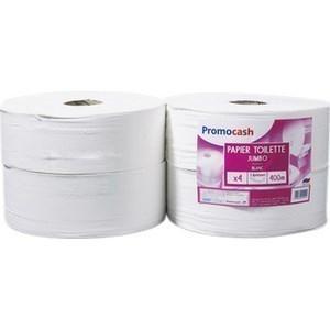Papier Hygiènique Jumbo PROMOCASH - le paquet de 4 rouleaux de 2 plis - 400 mètres - Hygiène droguerie parfumerie - Promocash Albi
