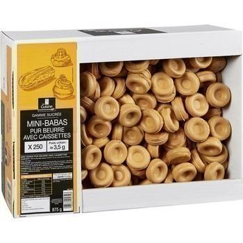 Mini-babas pur beurre avec caissettes x250 - Epicerie Sucrée - Promocash Albi