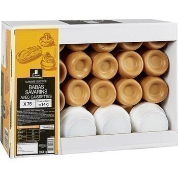 Babas savarins avec caissettes x76 - Epicerie Sucrée - Promocash Albi