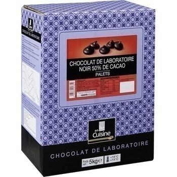 Palets chocolat noir 50% de cacao Chocolat de laboratoire 5 kg