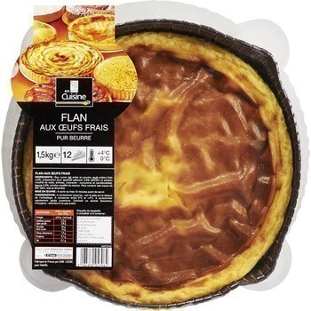 Flan aux oeufs frais pur beurre 1,5 kg - Charcuterie Traiteur - Promocash AVIGNON
