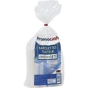 Barquettes translucides 125 grammes PROMOCASH - le paquet de 500 barquettes. - Bazar - Promocash Colombelles