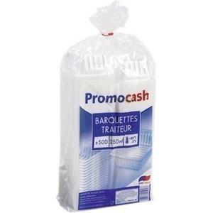 Barquettes translucides 250 cc. PROMOCASH - le paquet de 500 barquettes. - Bazar - Promocash Dreux