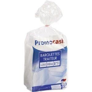 Barquettes translucides 1000 cc. PROMOCASH - le paquet de 250 barquettes translucides. - Bazar - Promocash Albi