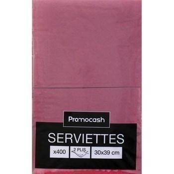 Serviettes 2 plis 30x39 cm bordeaux x400 - Bazar - Promocash Promocash Reims