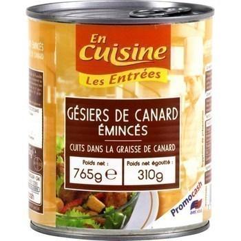 Gésiers de canard émincés cuits dans la graisse de canard 310 g - Epicerie Salée - Promocash Castres