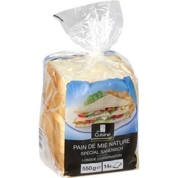 Pain de mie nature spécial sandwich 550 g - Pains et viennoiseries - Promocash Millau