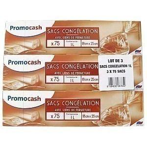 Sacs congélation 3x75 pièces x 1 l - Hygiène droguerie parfumerie - Promocash Albi
