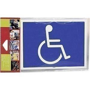 Pancarte rigide handicapés - la pièce - Bazar - Promocash Millau