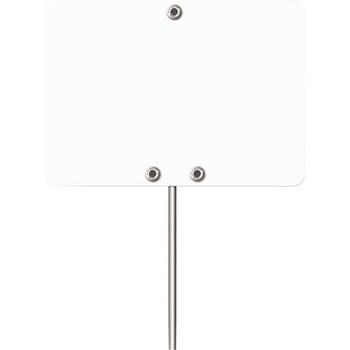 Etiquette vierge 7 x 5 cm blanche avec pique inox x10 - Bazar - Promocash Bourgoin