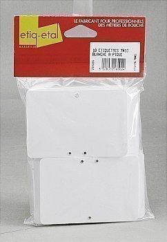 Etiquettes vierges blanches à pique 10x7 cm x10 - Bazar - Promocash Millau