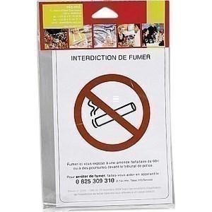 Pancarte adhésive interdiction de fumer - la pièce - Bazar - Promocash Saint Malo