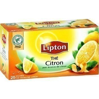 Thé au citron 25 sachets enveloppés - Epicerie Sucrée - Promocash AVIGNON