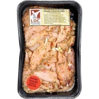 Aiguillettes de poulet marinées saveur thym citron - Boucherie - Promocash Agen