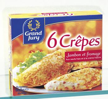 Crêpes Jambon/Fromage FIN FOURMET - le lot de 6 crêpes de 50 g - Surgelés - Promocash Castres