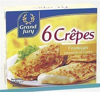 Crêpe Emmental / Mozzarella GRAND JURY - le lot de 6 de 50 g - Surgelés - Promocash Castres