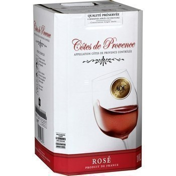 Côtes de Provence 12° 10 l - Vins - champagnes - Promocash Vendome