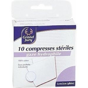 Compresses stériles 5 x 5 cm pliées - la boîte de 10 - Hygiène droguerie parfumerie - Promocash Antony