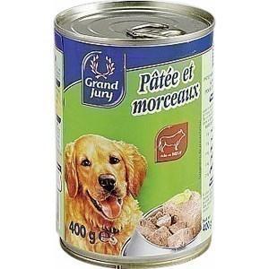 Pâtée et morceaux pour chiens au boeuf 1/2 - Epicerie Salée - Promocash Gap