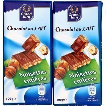 Chocolat au lait noisettes entières 2x100 g - Epicerie Sucrée - Promocash Anglet